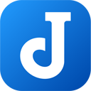 The Joplin icon's background has a blue square with rounded corners and the foreground features a stylized capital letter J in white.