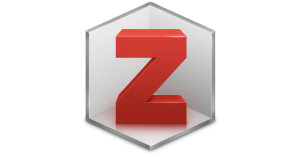 The icon for Zotero looks like a red capital Z inside half of a grey box as shown in perspective.